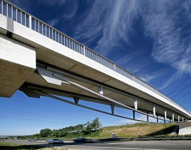Bridge over highway A81, Ludwigsburg
