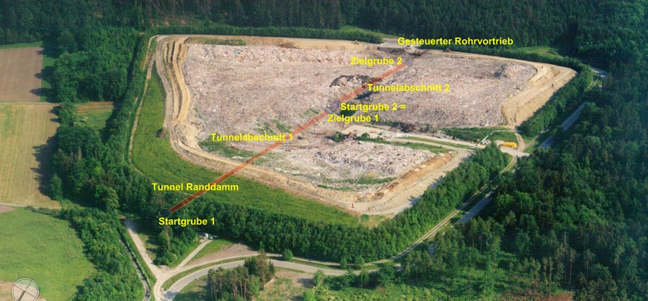 Hasenbuehl Landfill, aerial view