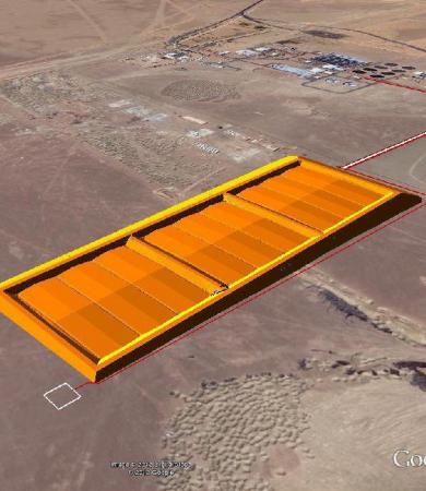 Landfill for sludge from the STP Tabuk, KSA