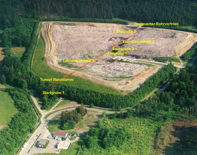 Remediation and closure of landfill Hasenbühl